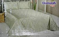 Жаккардовое покрывало с наволочками Damask Yesil