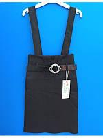 Модная юбка c завышенной талией и шлейками р 122-152