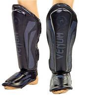 Защита голени и стопы для тайского бокса и ММА VENUM ELITE FLEX VN-5243-BK черная