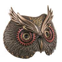 Настенное панно - маска «Сова» (21*19 см) Бронза Veronese