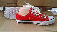 Кеды на шнурках красные Украина, фото 1