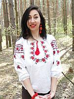 Женская вышиванка, украинские мотивы. Этно вышивка