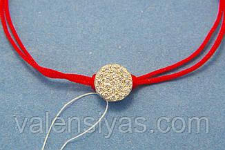 Браслет оберіг червона нитка - Розсип диамантов, фото 2