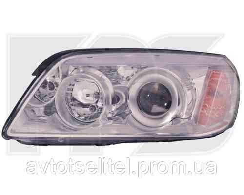 Фара передняя для Chevrolet Captiva 06-10 левая (DEPO) под электрокорректор хромированный отражатель