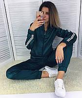 Женский атласный костюм-тройка(кофта+штаны+шорты)