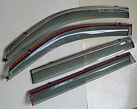 Toyota Land Cruiser 200 ветровики дефлекторы окон ASP с молдингом нержавеющей стали / sunvisors