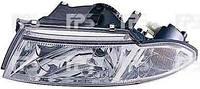 Фара передняя для Mitsubishi Carisma 99-04 левая (DEPO) светлый рассеиватель