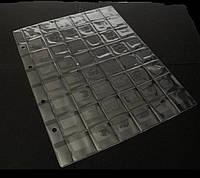 Лист для монет формат А4 200*250 мм на 48 ячеек
