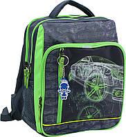 """Школьный рюкзак """"BAGLAND"""" серый салатовый Auto"""