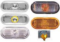 Указатель поворота на крыле Volkswagen Polo 94-02 левый/правый, желтый (рифленый) (DEPO)