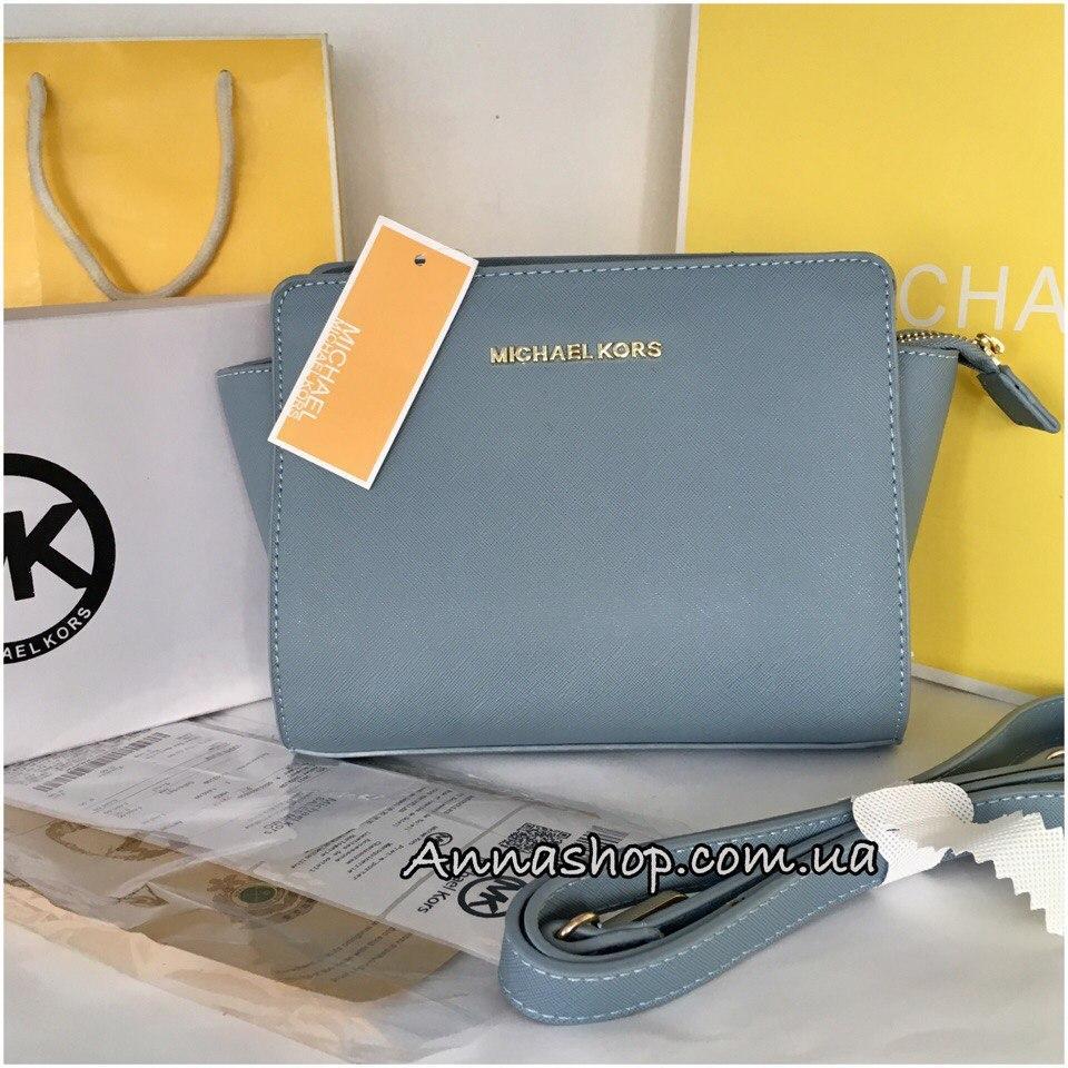 Клатч сумка Майкл Корс Selma mini цвет голубой  продажа, цена в ... d264bec9b1d