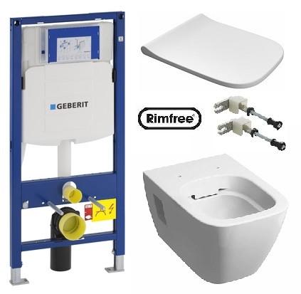 MODO Rimfree унитаз и инсталяция  Geberit Duofix 111.300