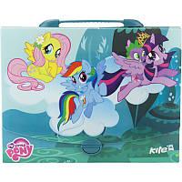 Портфель- коробка пластиковый «My Little Pony» на защелке, ТМ Kite