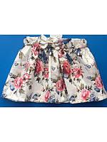 Модная летняя юбка в цветочек  2-4 года