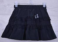 """Юбка школьная """"Аля"""" для девочек. 6-10 лет. Черная. Школьная форма оптом"""