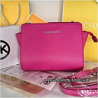 Клатч, сумка Майкл Корс Selma mini цвет малина, копия