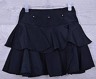 """Юбка школьная """"Аля 1"""" для девочек. 6-10 лет. Черная. Школьная форма оптом"""