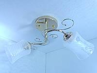 Люстра потолочная на 2 лампочки YR-3418/2-gd