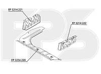 Грязезащита двигателя средняя пластмас. для Hyundai Accent 2006-10
