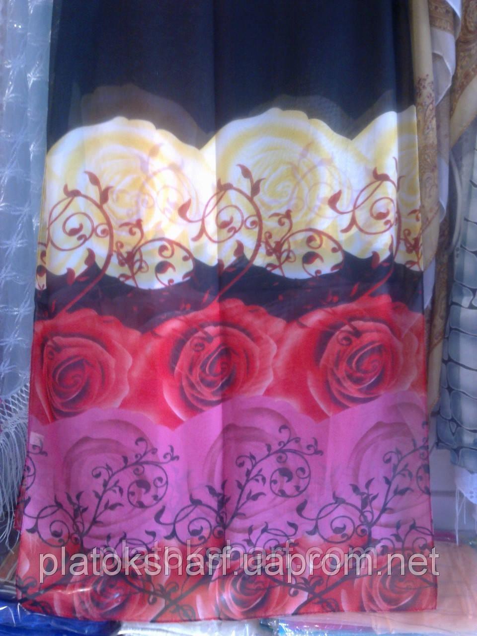 Шарфы шифон красивые нежные, шарфики