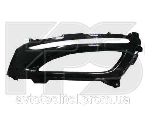 Решетка в бампере правая с отв. под п/тум с отв. под DRL для Kia Optima 2011-