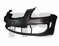 Бампер передний черный с отв. под накладки -2010 для Kia Rio 2006-11