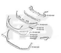 Решетка в бампере средняя для Kia Sportage 2010- (SL)