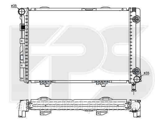 Радиатор MERCEDES 124 84-96 (E-CLASS)