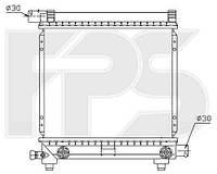 Радиатор MERCEDES 124 84-96 (E-CLASS)/190 82-93 (W201)