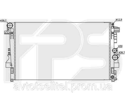 Радиатор MERCEDES BUS VIANO / VITO (W639) 03-10/BUS VIANO / VITO (W639) 10-