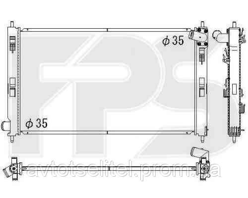 Радиатор MITSUBISHI ASX 10-13/ASX 13-/LANCER X (CY) 07 - 12 / (CX) 08 - 10/LANCER X (CY) 12 - / (CX) RALLIART 08 -10/OU