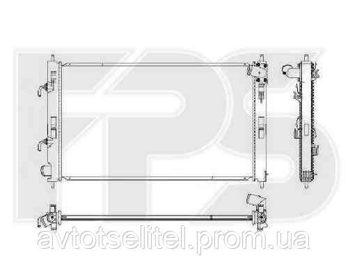 Радиатор MITSUBISHI LANCER X (CY) 07 - 12 / (CX) 08 - 10/LANCER X (CY) 12 - / (CX) RALLIART 08 -10