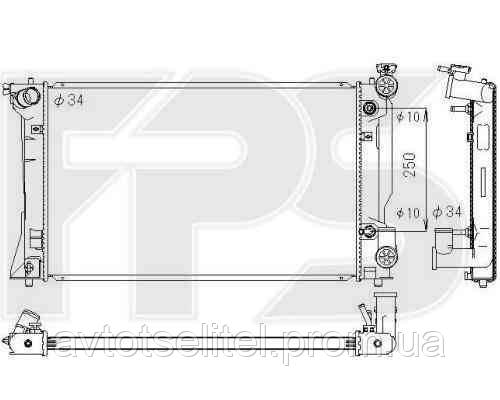 Радиатор TOYOTA AVENSIS 03-06 (КРОМЕ VERSO)/AVENSIS 06-08 (КРОМЕ VERSO)