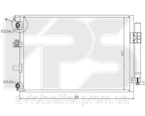 Кондиционер FORD C-MAX 10-/FOCUS 11-