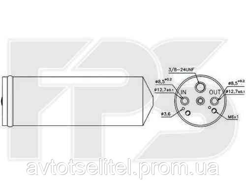 Осушитель MITSUBISHI CARISMA 95-04/PAJERO SPORT I 00-08/SPACE STAR 02-05, VOLVO S40/V40 96-03