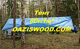 Тент дешево 10х18м универсальный тарпаулин синий 60г/1м² с люверсами, фото 3