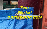 Тент дешево 15х20м универсальный тарпаулин синий 60г/1м² с люверсами, фото 2