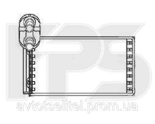 Радиатор печки SEAT ALHAMBRA 95-09, VW SHARAN 95-00/SHARAN 01-10