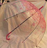 Зонт Для подростка трость полуавтомат Цветы 18-3140-2