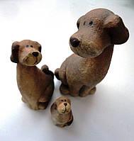 """Комплект керамических фигурок """"Семья собак"""""""