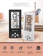 Часы с функциями метеостанции для дома Digoo DG-TH1177 прозрачные