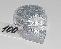 Зеркальный блеск 1.5 грамма (микропыль 0,01 мм) №100