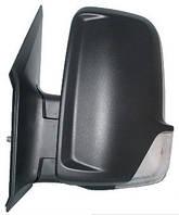 Зеркало лев. ручн. без обогр. выпукл. 2 PIN +УК. пов. -подсвет SHORT ARM Volkswagen Crafter 2006-