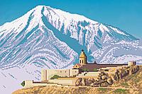 """Гора Арарат"" схема вышивки бисером"