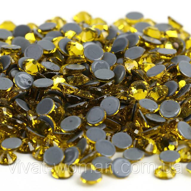 Стразы А+ Premium, Citrine (желтый) SS16 (3,8-4,0 мм) термоклеевые. Цена за 144 шт.