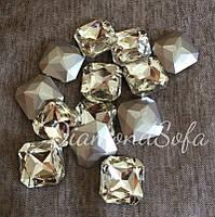 Декоративные стеклянные камни , Квадратные , Маркизы без цап 23*23мм