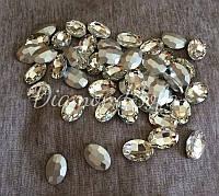 Декоративные стеклянные камни , Овал , Маркизы без цап 25*18