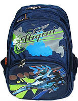 Школьный рюкзак Migini для мальчика синий истребитель