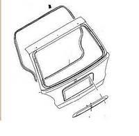 Накладка двери багажника (ручка) для Daewoo Matiz (M150) 2001-