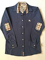 """Классическая рубашка """" Burberry"""" для мальчика от 13-16 лет"""